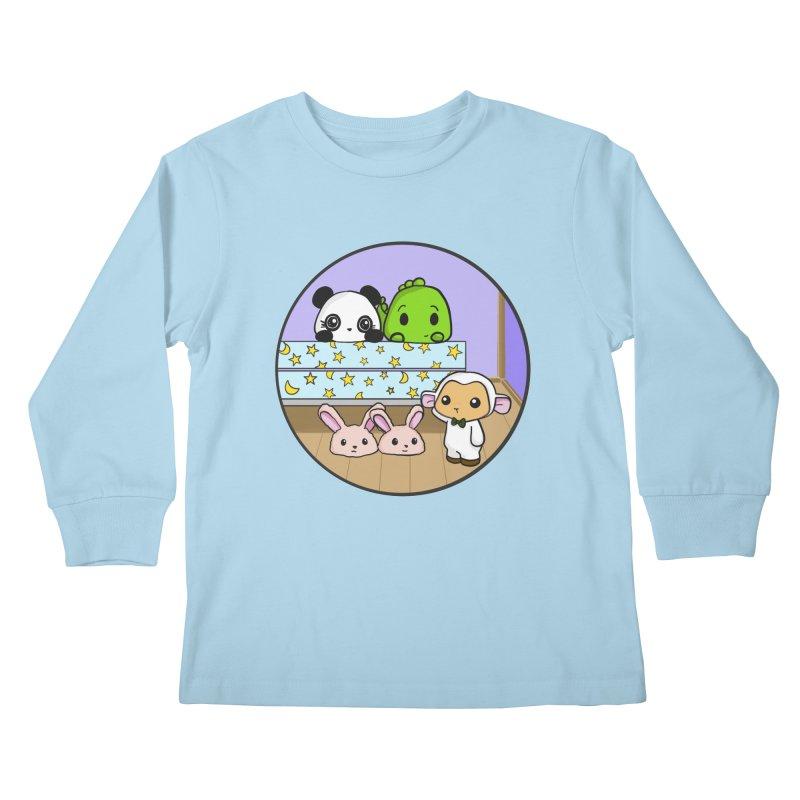 Dustbunny Friends Kids Longsleeve T-Shirt by Dino & Panda Inc Artist Shop