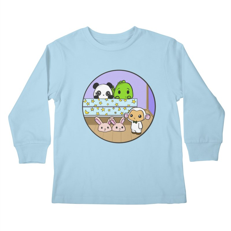 Dustbunny Friends Kids Longsleeve T-Shirt by Dino & Panda Inc Artist Shop