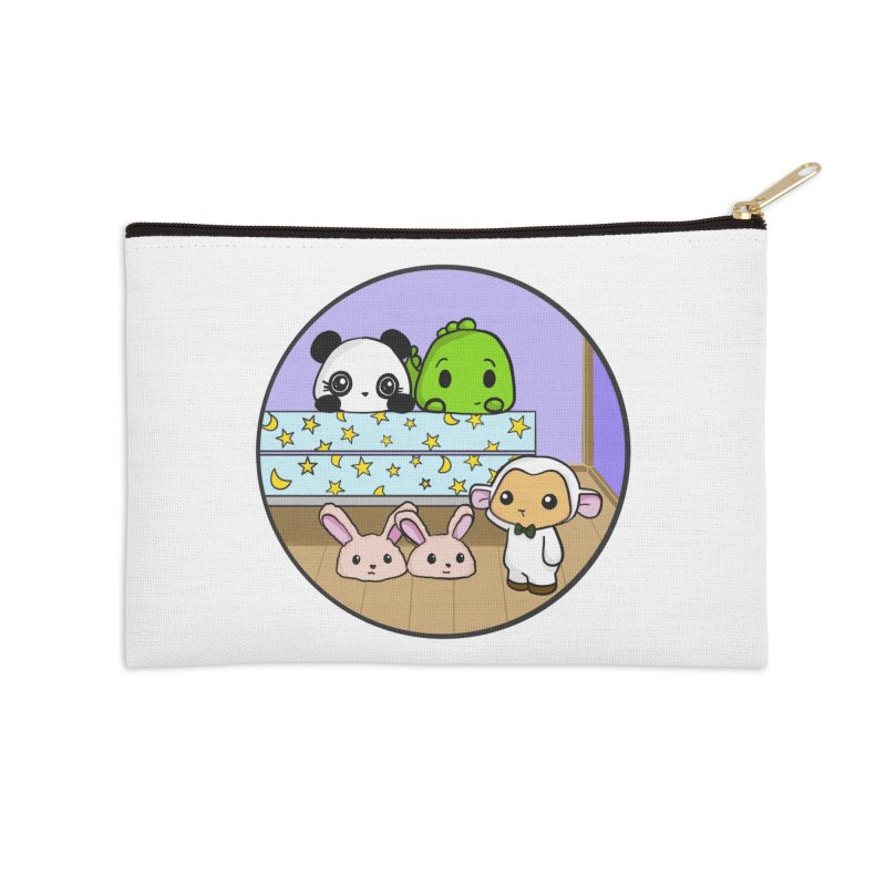 Dustbunny Friends Accessories Zip Pouch by Dino & Panda Inc Artist Shop