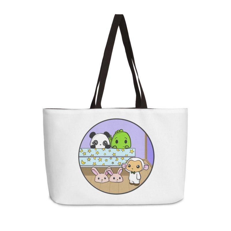 Dustbunny Friends Accessories Weekender Bag Bag by Dino & Panda Inc Artist Shop