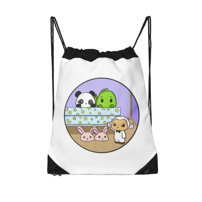 Dustbunny Friends Accessories Drawstring Bag Bag by Dino & Panda Inc Artist Shop