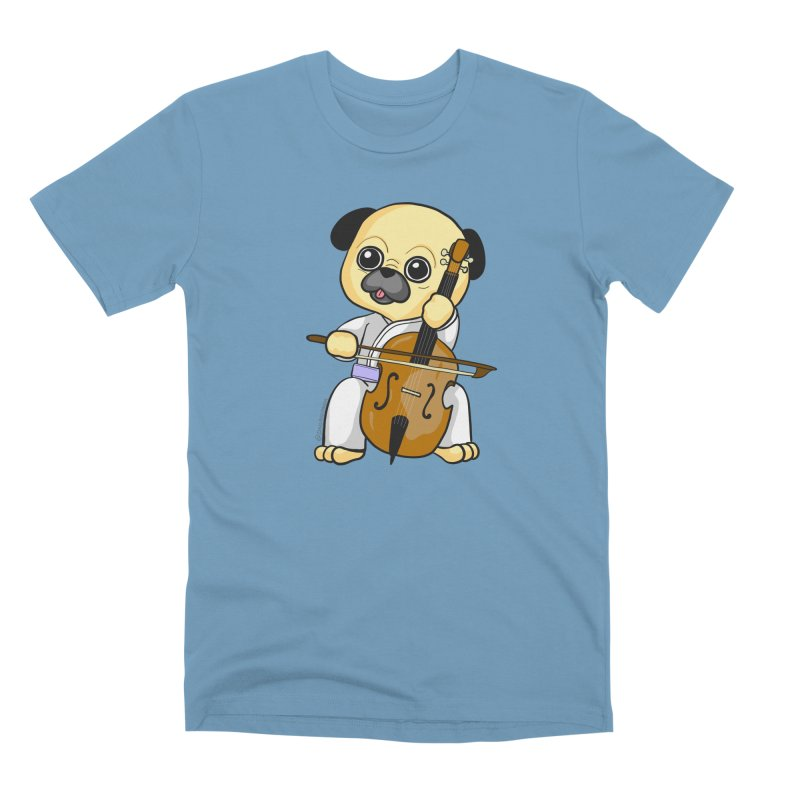 Puggie plays the Cello Men's Premium T-Shirt by Dino & Panda Inc Artist Shop