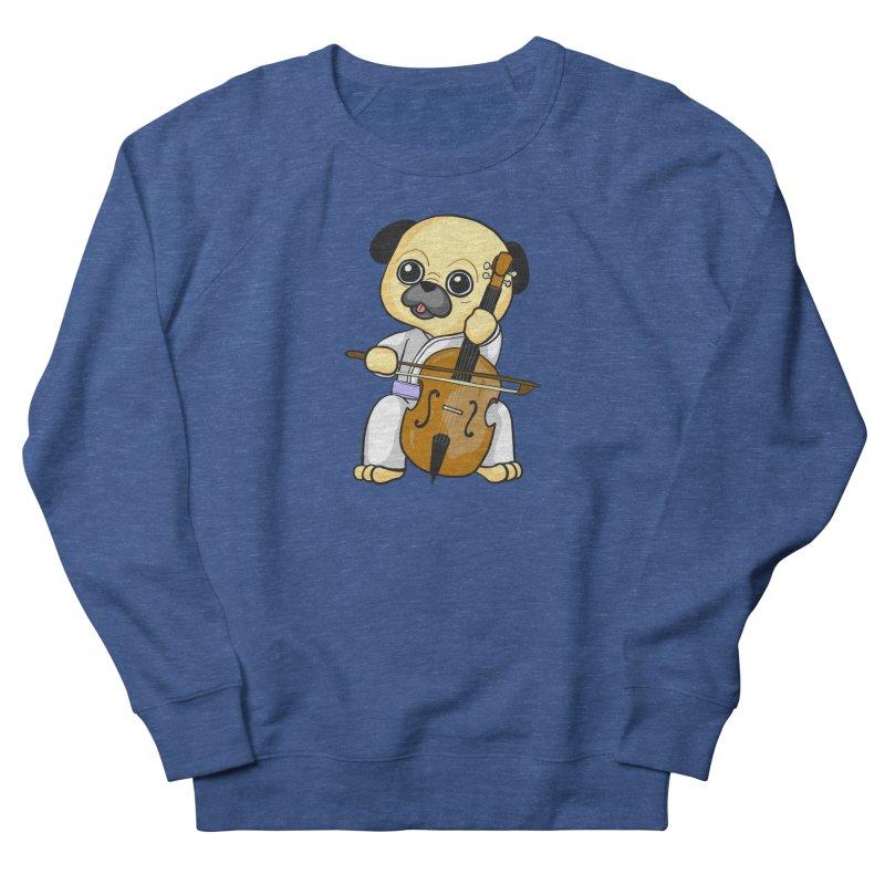 Puggie plays the Cello Men's Sweatshirt by Dino & Panda Inc Artist Shop