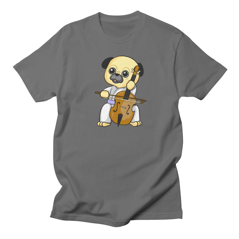 Puggie plays the Cello Women's T-Shirt by Dino & Panda Artist Shop