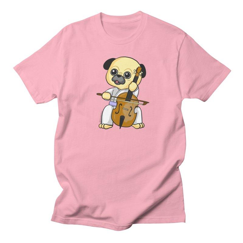 Puggie plays the Cello Women's Regular Unisex T-Shirt by Dino & Panda Inc Artist Shop