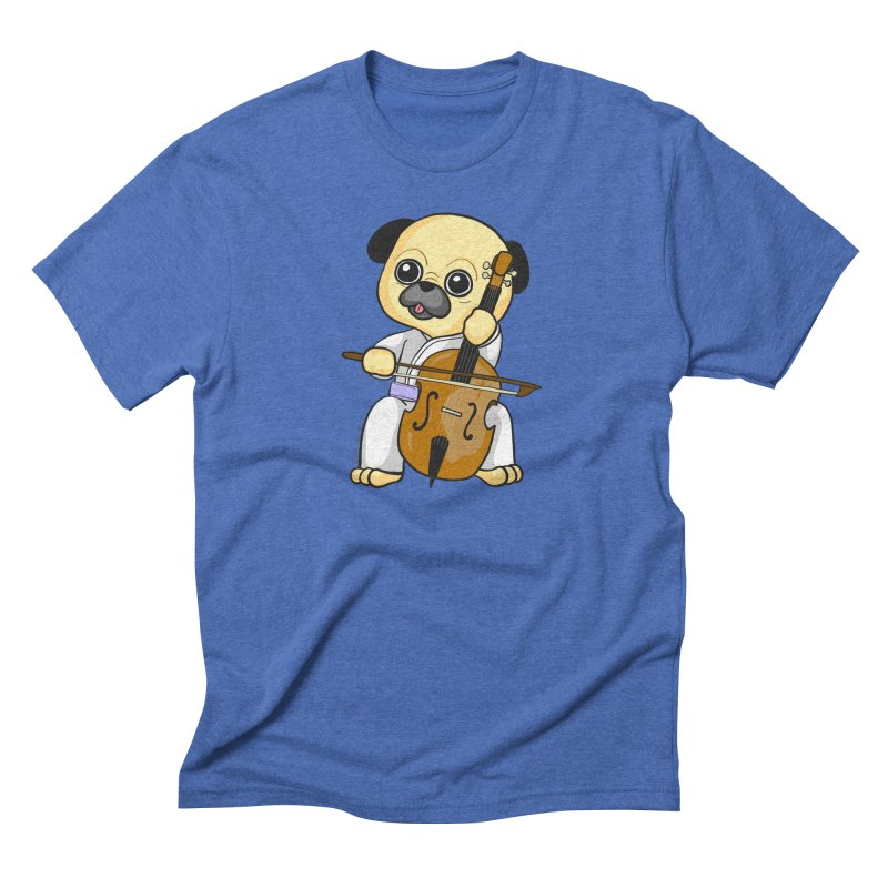 Puggie plays the Cello Men's Triblend T-Shirt by Dino & Panda Inc Artist Shop