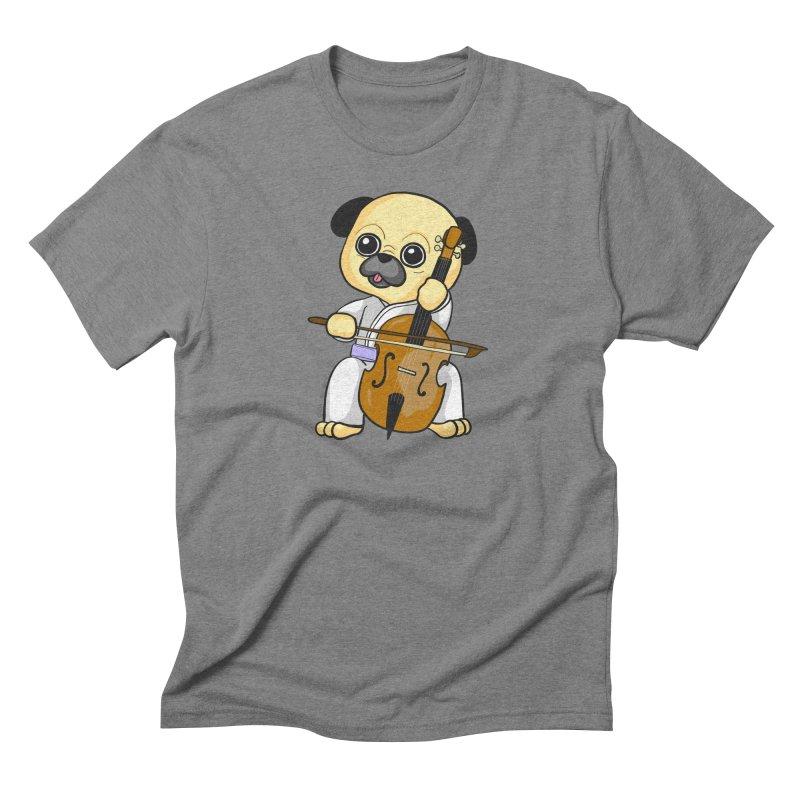 Puggie plays the Cello Men's Triblend T-Shirt by Dino & Panda Inc Artist Shop