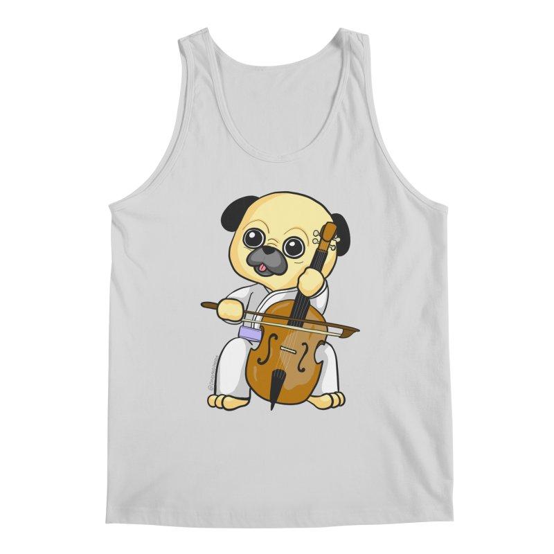 Puggie plays the Cello Men's Regular Tank by Dino & Panda Inc Artist Shop