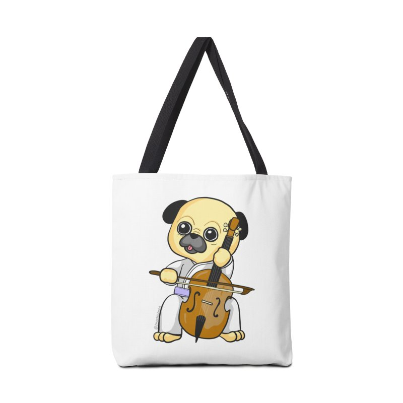 Puggie plays the Cello Accessories Bag by Dino & Panda Inc Artist Shop