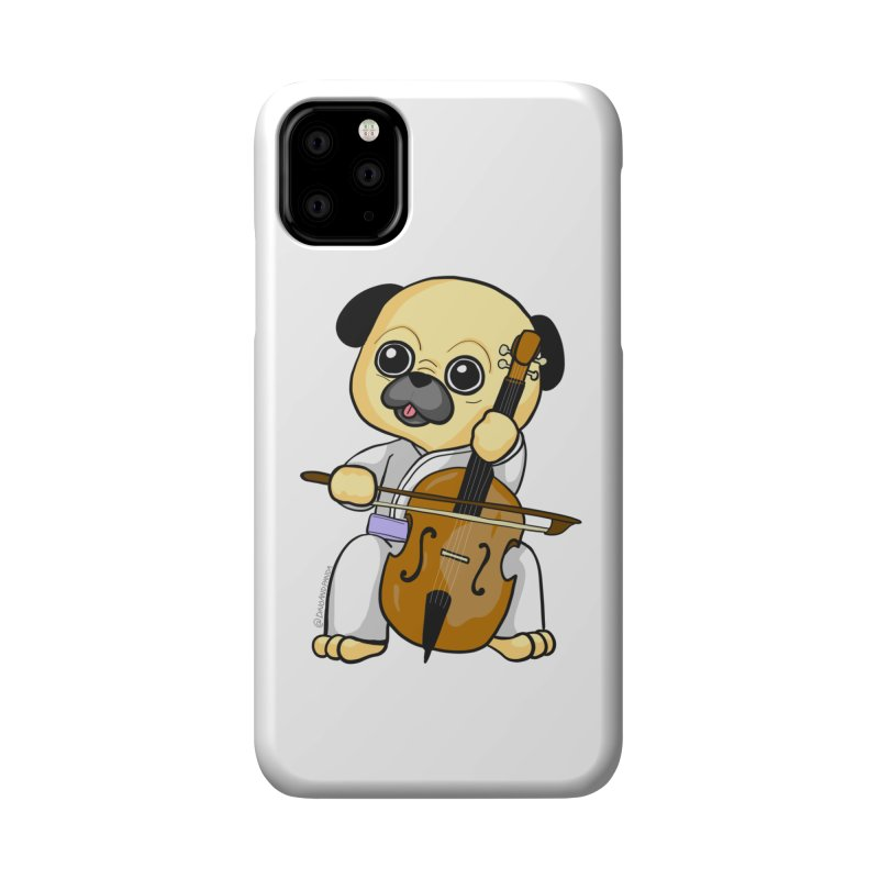 Puggie plays the Cello Accessories Phone Case by Dino & Panda Inc Artist Shop