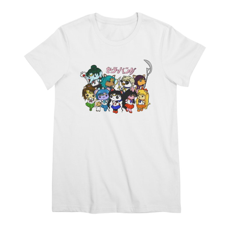 Sailor Panda and Friends Women's Premium T-Shirt by Dino & Panda Inc Artist Shop