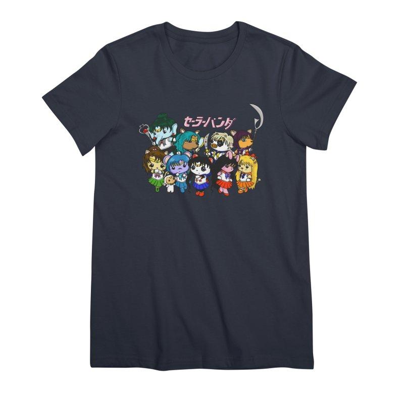 Sailor Panda and Friends Women's Premium T-Shirt by Dino & Panda Inc Artist Shop