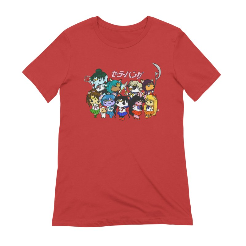 Sailor Panda and Friends Women's Extra Soft T-Shirt by Dino & Panda Inc Artist Shop