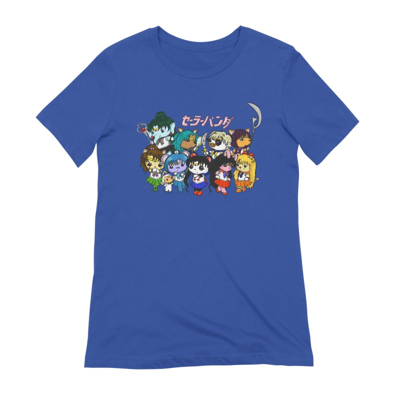 Sailor Panda and Friends Women's Extra Soft T-Shirt by Dino & Panda Inc Artist Shop