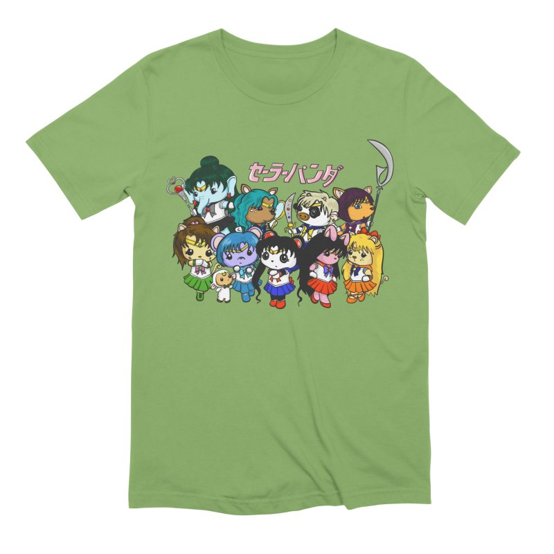 Sailor Panda and Friends Men's Extra Soft T-Shirt by Dino & Panda Inc Artist Shop