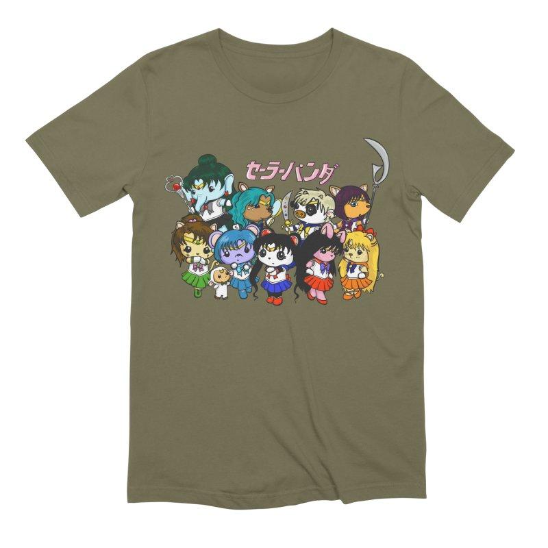 Sailor Panda and Friends Men's Extra Soft T-Shirt by Dino & Panda Inc Artist Shop
