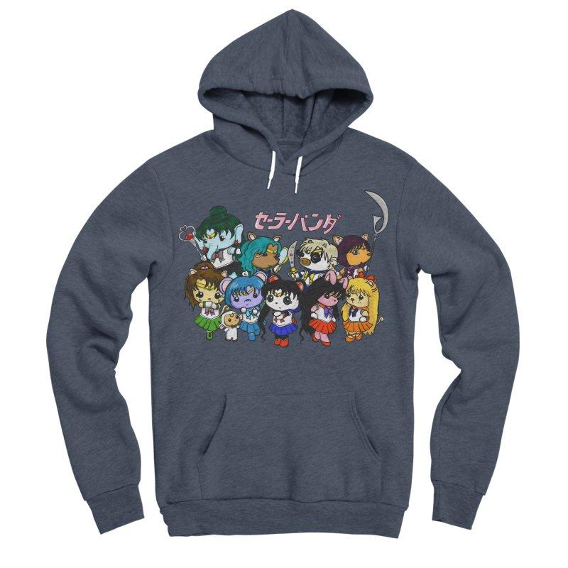 Sailor Panda and Friends Women's Sponge Fleece Pullover Hoody by Dino & Panda Inc Artist Shop