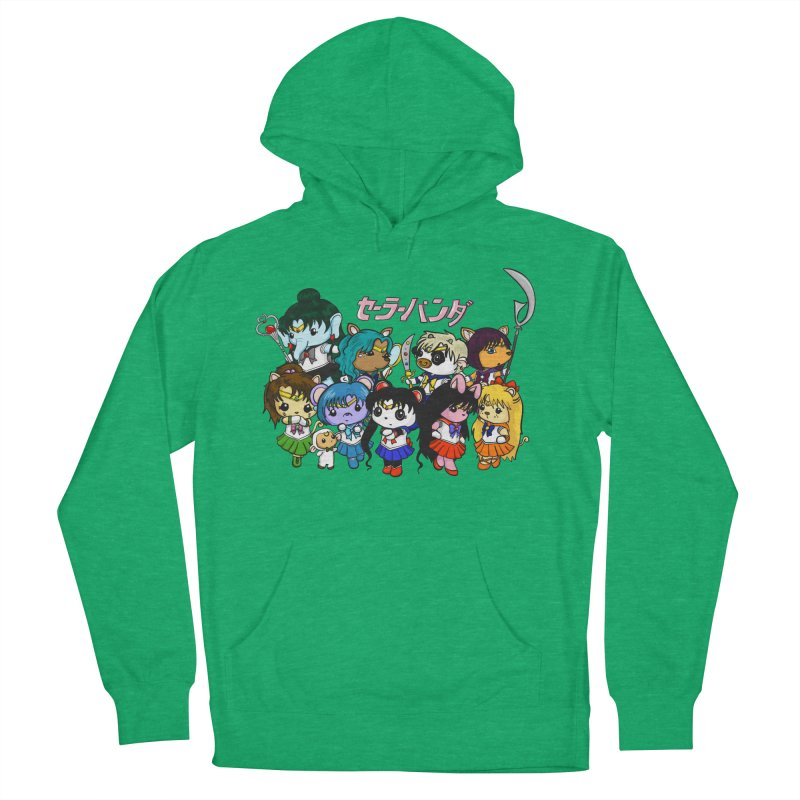 Sailor Panda and Friends Women's French Terry Pullover Hoody by Dino & Panda Inc Artist Shop