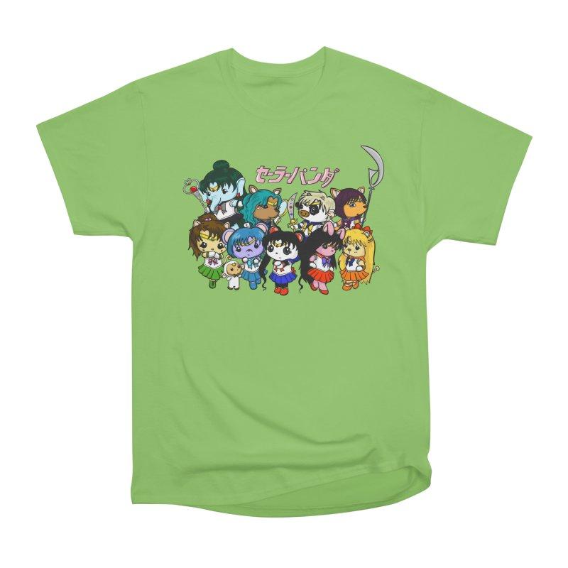 Sailor Panda and Friends Women's Heavyweight Unisex T-Shirt by Dino & Panda Inc Artist Shop