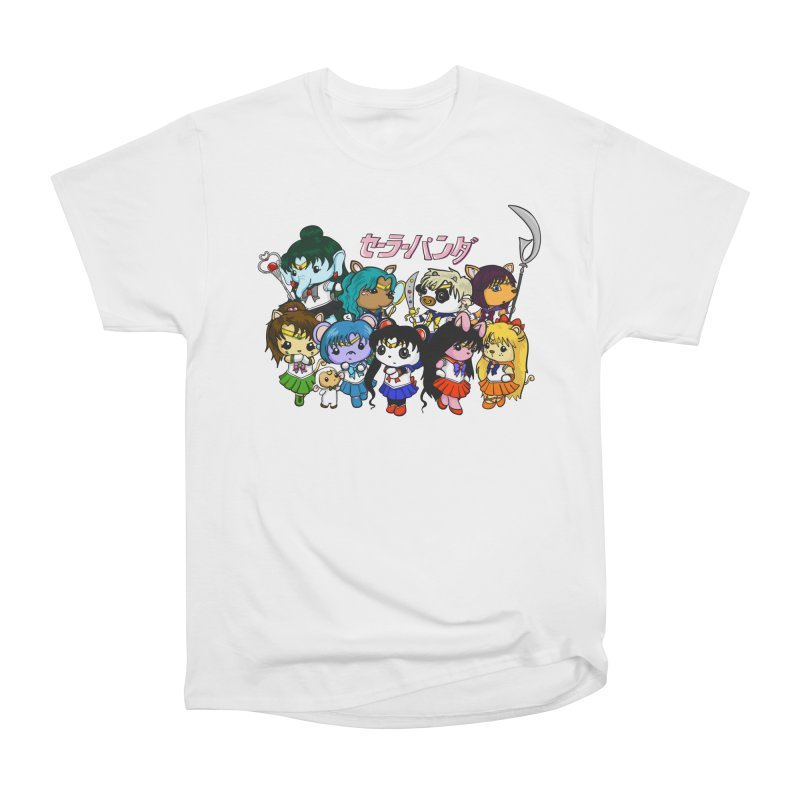 Sailor Panda and Friends Women's Heavyweight Unisex T-Shirt by Dino & Panda Inc Artist Shop