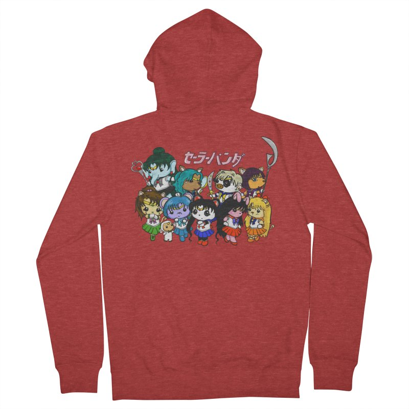 Sailor Panda and Friends Women's French Terry Zip-Up Hoody by Dino & Panda Inc Artist Shop