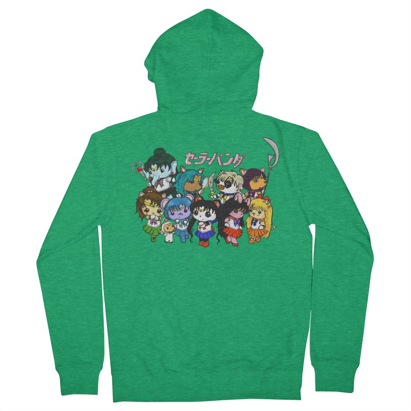 Sailor Panda and Friends Men's Zip-Up Hoody by Dino & Panda Artist Shop