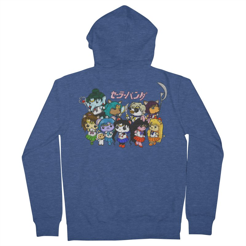 Sailor Panda and Friends Men's French Terry Zip-Up Hoody by Dino & Panda Inc Artist Shop