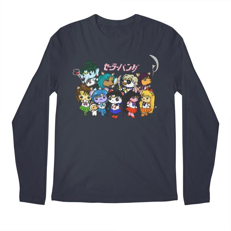 Sailor Panda and Friends Men's Regular Longsleeve T-Shirt by Dino & Panda Inc Artist Shop