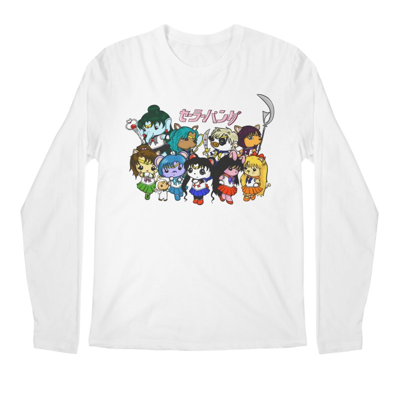 Sailor Panda and Friends Men's Regular Longsleeve T-Shirt by Dino & Panda Inc Artist Shop