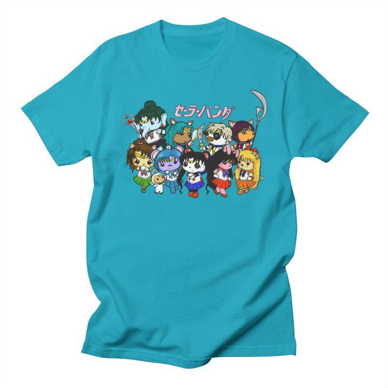 Sailor Panda and Friends Women's Regular Unisex T-Shirt by Dino & Panda Inc Artist Shop