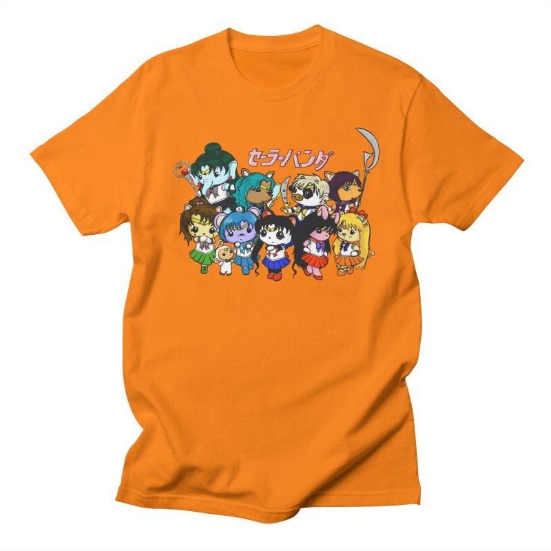Sailor Panda and Friends Men's Regular T-Shirt by Dino & Panda Inc Artist Shop