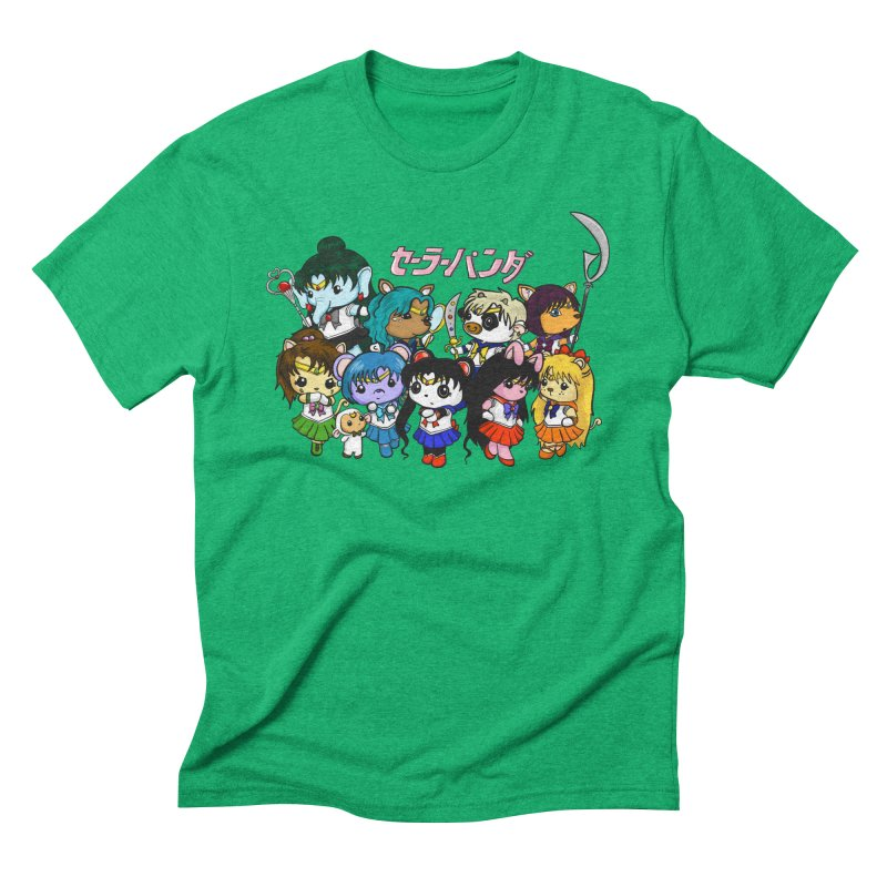 Sailor Panda and Friends Men's Triblend T-Shirt by Dino & Panda Inc Artist Shop