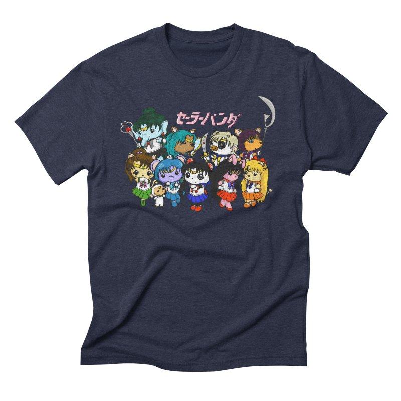 Sailor Panda and Friends Men's Triblend T-Shirt by Dino & Panda Inc Artist Shop