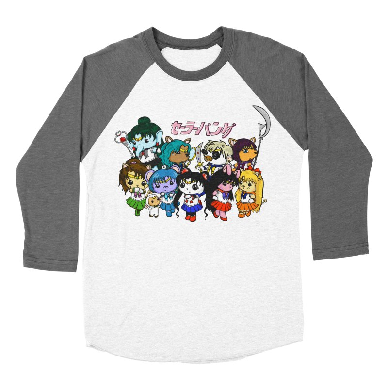 Sailor Panda and Friends Women's Baseball Triblend Longsleeve T-Shirt by Dino & Panda Inc Artist Shop