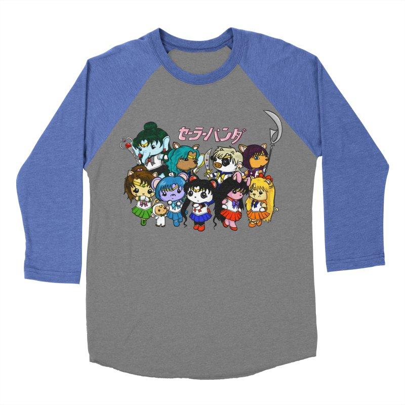 Sailor Panda and Friends Women's Baseball Triblend Longsleeve T-Shirt by Dino & Panda Inc Artist Shop