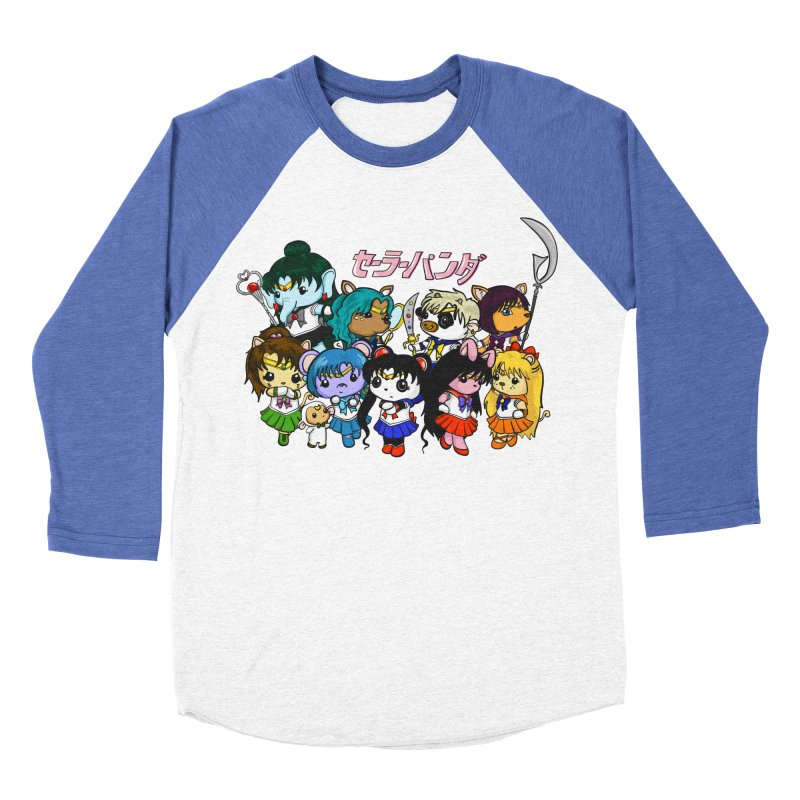 Sailor Panda and Friends Men's Baseball Triblend Longsleeve T-Shirt by Dino & Panda Inc Artist Shop