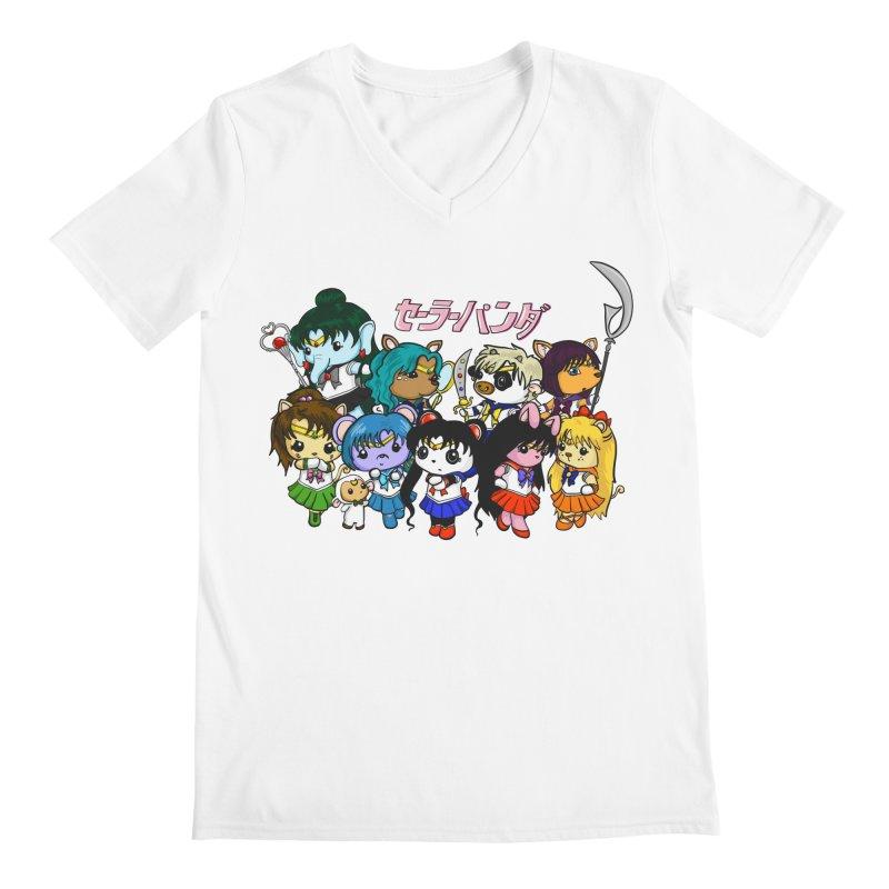 Sailor Panda and Friends Men's V-Neck by Dino & Panda Artist Shop
