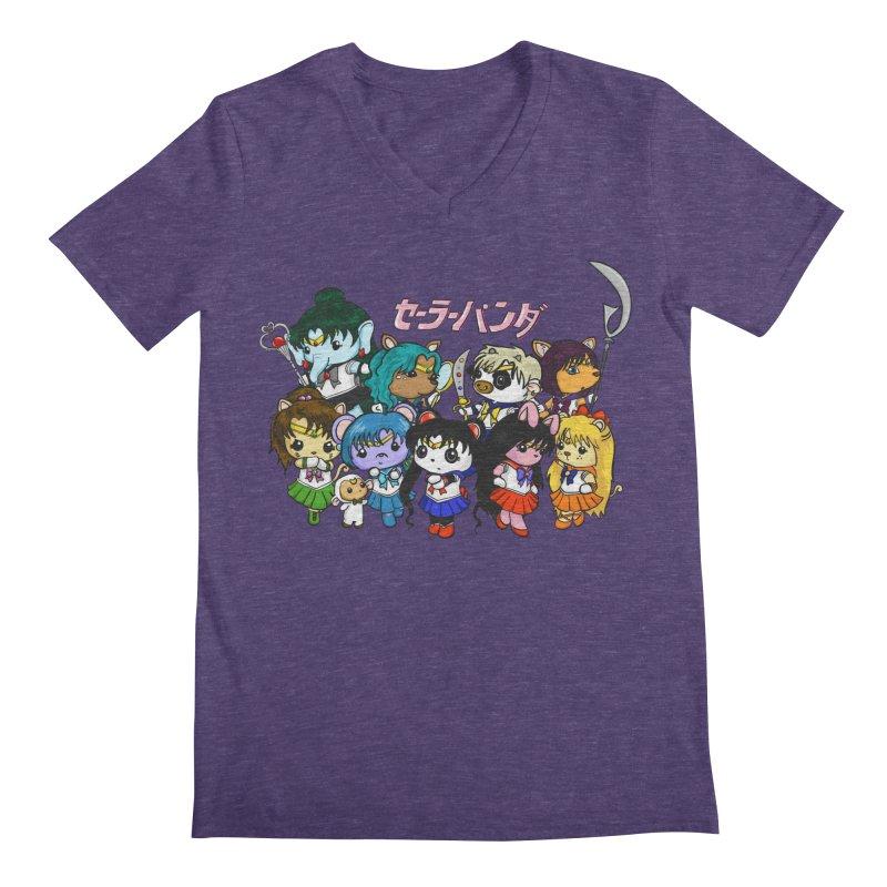 Sailor Panda and Friends Men's Regular V-Neck by Dino & Panda Inc Artist Shop