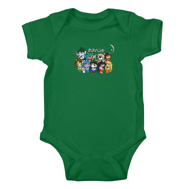Sailor Panda and Friends Kids Baby Bodysuit by Dino & Panda Artist Shop