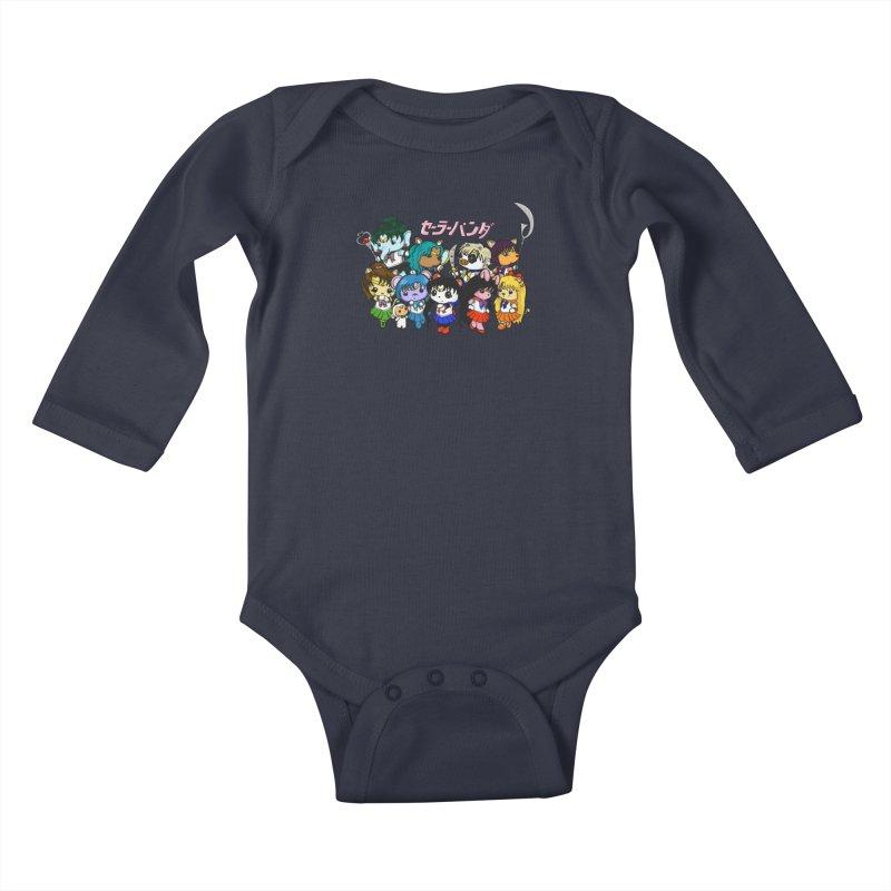 Sailor Panda and Friends Kids Baby Longsleeve Bodysuit by Dino & Panda Artist Shop