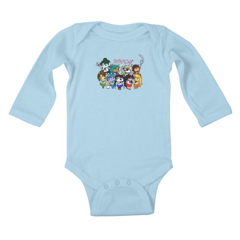 Sailor Panda and Friends Kids Baby Longsleeve Bodysuit by Dino & Panda Inc Artist Shop