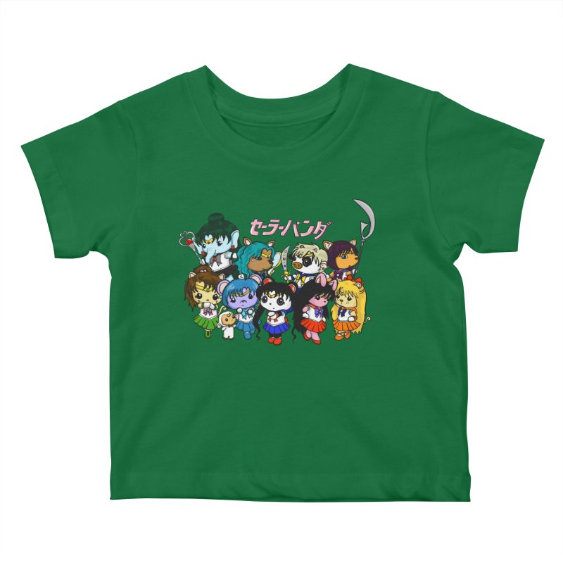 Sailor Panda and Friends Kids Baby T-Shirt by Dino & Panda Inc Artist Shop