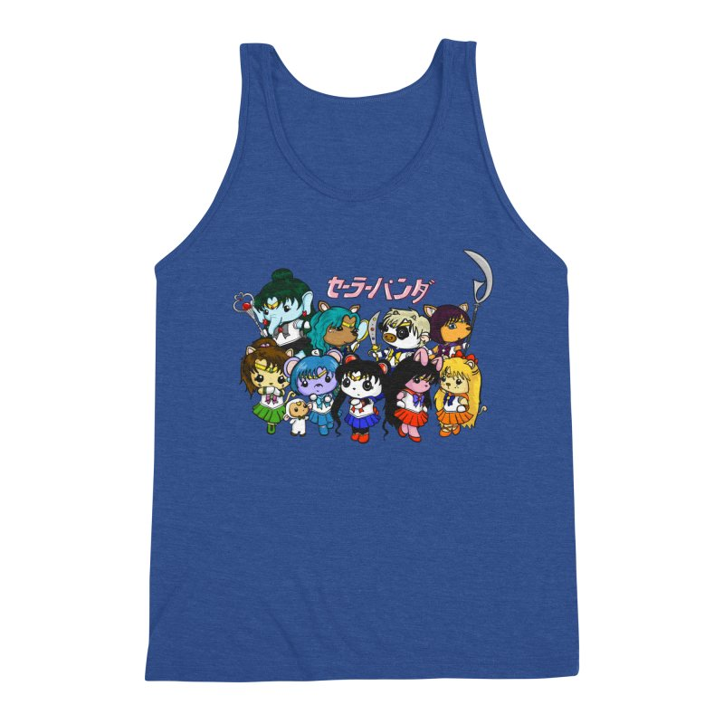 Sailor Panda and Friends Men's Triblend Tank by Dino & Panda Inc Artist Shop
