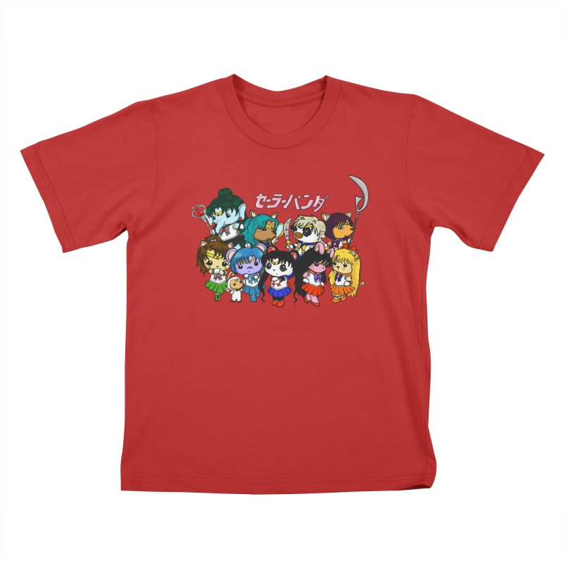 Sailor Panda and Friends Kids T-Shirt by Dino & Panda Inc Artist Shop