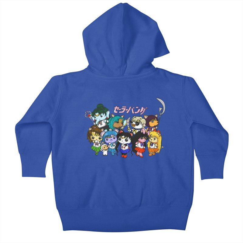 Sailor Panda and Friends Kids Baby Zip-Up Hoody by Dino & Panda Inc Artist Shop