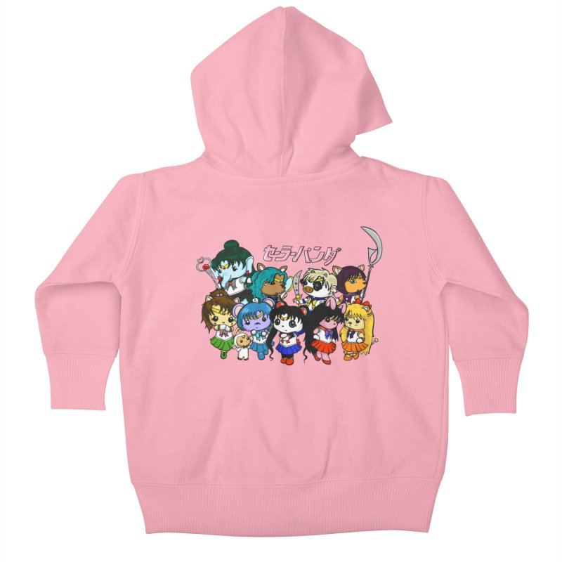 Sailor Panda and Friends Kids Baby Zip-Up Hoody by Dino & Panda Artist Shop