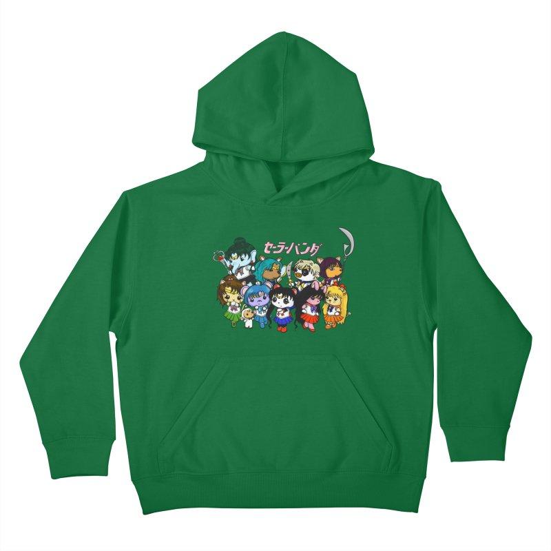 Sailor Panda and Friends Kids Pullover Hoody by Dino & Panda Inc Artist Shop