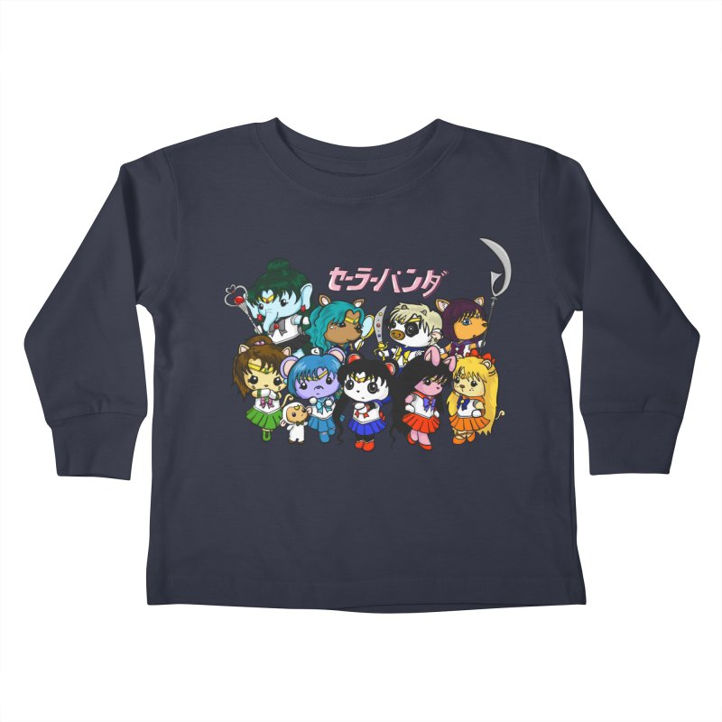 Sailor Panda and Friends Kids Toddler Longsleeve T-Shirt by Dino & Panda Inc Artist Shop