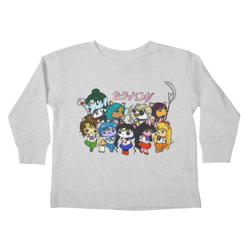 Sailor Panda and Friends Kids Toddler Longsleeve T-Shirt by Dino & Panda Inc Artist Shop