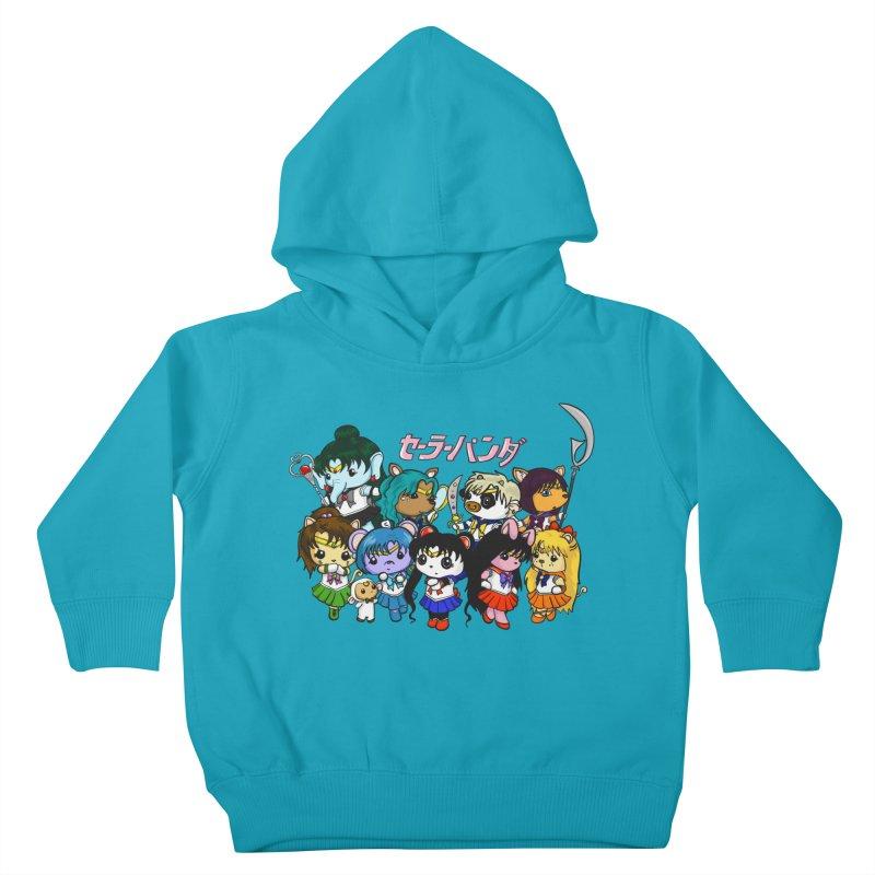 Sailor Panda and Friends Kids Toddler Pullover Hoody by Dino & Panda Inc Artist Shop